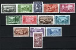 Gran Libano 1925 Y.T.50/62 */MH VF/F - Great Lebanon (1924-1945)