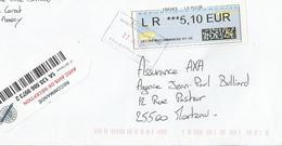 Lettre En Recommandé Avec Oblitération Cachet De Service Annecy Coeur De Ville - Postmark Collection (Covers)