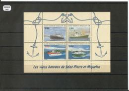 ST PIERRE ET MIQUELON 1994 - YT BF 4 - NEUF SANS CHARNIERE ** (MNH) GOMME D'ORIGINE LUXE - Hojas Y Bloques