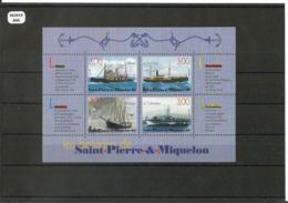 ST PIERRE ET MIQUELON 1999 - YT BF 7 - NEUF SANS CHARNIERE ** (MNH) GOMME D'ORIGINE LUXE - Hojas Y Bloques