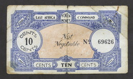 WWII - Banconota - East Africa Command - Token Money - 10 Cents - N. 69626 - Sin Clasificación