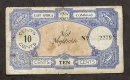 WWII - Banconota - East Africa Command - Token Money - 10 Cents - N. 2279 - Sin Clasificación