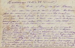 CP Ecrite De Marsillargues 34 Guerre 1914 Expedition Colis Chicorée Aviation Marine - France