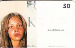 DENMARK(chip) - Calvin Klein, 01/00, Used - Advertising