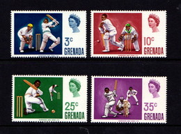 GRENADA    1969    Cricket   Set  Of  4    MH - Grenada (...-1974)
