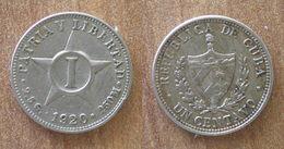 Cuba 1 Centavo 1920 Centavos Cent Pesos Peso Bitcoin Paypal OK - Cuba