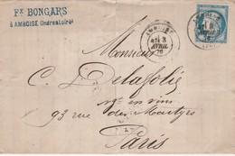 TIMBRE Sur Lettre - 024 - 1871-1875 Ceres
