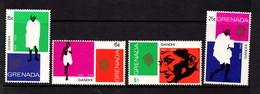 GRENADA    1969    Birth  Centenary  Of  Mahatma  Gandhi   Set  Of  4    MH - Grenada (...-1974)