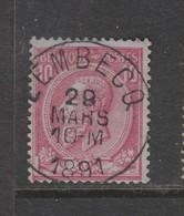 COB 46 Oblitération Centrale LEMBECQ Superbe - 1884-1891 Léopold II