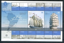 VELAS SUDAMERICA 2010, ARGENTINA JALIL NR. HB 210. TBE MNH HOJA REGATTA REGATA VELEROS SAILBOAT VOILIER - LILHU - Unused Stamps