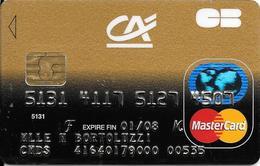 -CARTE+-PUCE-MAGNETIQUE-CB-CREDIT CREDIT AGRICOLE--MASTERCARD-01/08-AXALTO FR 09/05-TBE-RARE - Cartes Bancaires Jetables