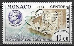 MONACO    -   Poste Aérienne   -    1962 .   Y&T N° 80 ** .  Energie Atomique - Poste Aérienne