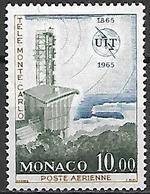 MONACO    -   Poste Aérienne   -    1965 .   Y&T N° 84 ** .  UIT  /  Station De Télévision De Monte-Carlo. - Poste Aérienne