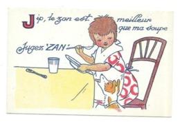 CHROMO REGLISSE ZAN COLLECTION ALPHABET LETTRE J - Süsswaren