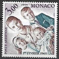MONACO    -   Poste Aérienne   -    1966 .   Y&T N° 85 * .  Princesse Grace Et Ses Enfants. - Poste Aérienne