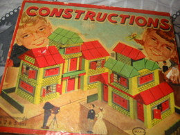 Mallette Jeux Construction En Bois Années 50/60 - Andere Sammlungen