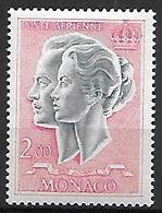 MONACO    -   Poste Aérienne   -    1966 .   Y&T N° 87 ** .  Couple Princier - Poste Aérienne