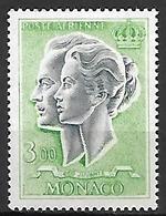 MONACO    -   Poste Aérienne   -    1966 .   Y&T N° 88 ** .  Couple Princier - Poste Aérienne
