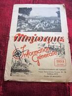 1955 MALLORCA ESPANA ILES BALÉARES PLANO TURISTICO  GUÍA PANTALLA TURÍSTICA-EXCURSIONES AUTOCAR -PROGRAMA PALMA - Folletos Turísticos