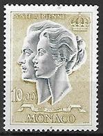 MONACO    -   Poste Aérienne   -    1966 .   Y&T N° 90 ** .  Couple Princier - Poste Aérienne