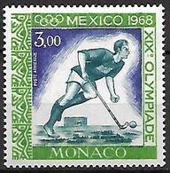 MONACO    -   Poste Aérienne   -    1968 .   Y&T N° 92 ** . Hockey Sur Gazon  /  JO De Mexico - Poste Aérienne