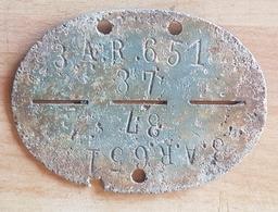PLAQUE MATRICULE ALLEMANDE 1944 NORMANDIE - 1939-45