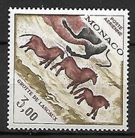 MONACO    -   Poste Aérienne   -    1970 .   Y&T N° 95** . Préhistoire  /  Grotte De Lascaux - Poste Aérienne