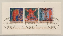 Österreich 2009  Rosenkranz-Triptychon MiNr.: BL 54 Ersttag; Austria FDC Sheetlet Scott: 2222 Yt: BF56 - Blocks & Sheetlets & Panes