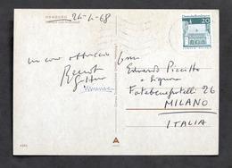 Cartolina Con Autografo Di Renato Guttuso E Moglie Mimise - 1968 - Autografi