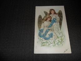 Anges ( 90 )  Ange  Engelen  Engel  Carte Gaufrée  Reliëf - Anges