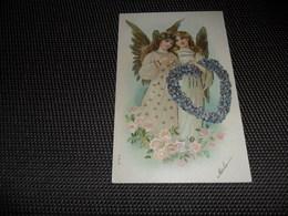 Anges ( 91 )  Ange  Engelen  Engel  Carte Gaufrée  Reliëf - Anges