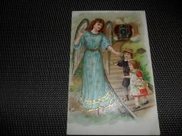 Ange ( 96 )    Engel   Ange Gardien  Beschermengel  Carte Gaufrée  Reliëf - Anges