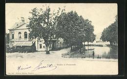 CPA Annecy, Théatre Et Promenade - Annecy