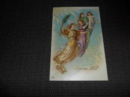 Anges ( 98 )  Ange  Engelen  Engel   Carte Gaufrée   Reliëf - Anges