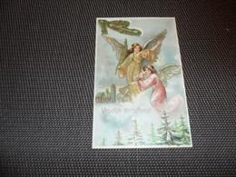 Anges ( 99 )  Ange  Engelen  Engel   Carte Gaufrée   Reliëf - Anges