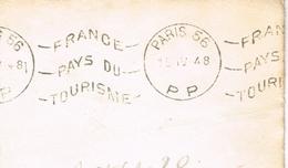 France. Flamme. Port Payé. Paris 56 - Marcophilie (Lettres)