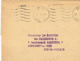 France. Flamme. Port Payé. Paris 28 - Poststempel (Briefe)