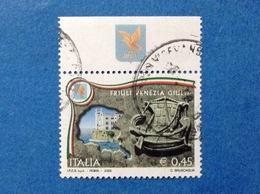2005 ITALIA REGIONI REGIONE FRIULI VENEZIA GIULIA CON APPENDICE BANDELLA FRANCOBOLLO USATO STAMP USED - 6. 1946-.. Republic