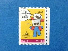 2005 ITALIA GIOCHI OLIMPICI INVERNALI TORINO MASCOTTE 0,60 FRANCOBOLLO USATO STAMP USED - 6. 1946-.. Repubblica