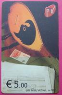 Kosovo CHIP PHONE CARD 5 EURO Operator VALA900. Serial # 0003... *TURKISH INSTRUMENT CIFTELI* - Kosovo
