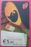 Kosovo CHIP PHONE CARD 5 EURO Operator VALA900. Serial Small # 001... *TURKISH INSTRUMENT CIFTELI* - Kosovo
