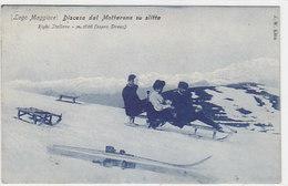 Discesa Dal Mattarone Su Slitta - 1909        (A-94-160804-190708) - Verbania