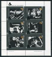 100 AÑOS CINE MUNDIAL. FEUILLET 1995 JALIL NR. 111. EISENSTEIN, CURTIS, DE SICA, CHAPLIN, TRUFFAUT, FAVIO. HOJA - LILHU - Argentina