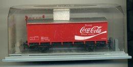 Wagon Couvert Jouef  Coca-Cola,  Complet Avec Sa Boîte - Wagons Marchandises