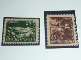 STAMPS TIMBRE D'ESPAGNE 1938 N°632/633 EN L'HONNEUR DE LA 43° DIVISION - REPUBLICA ESPANOLA -  (AE) - 1931-Today: 2nd Rep - ... Juan Carlos I