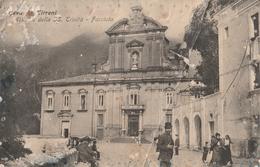 Cava De Tirreni - Abbazia Della S.S. Trinità - Facciata (evidenti Segni Del Tempo) - Cava De' Tirreni