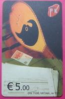 Kosovo CHIP PHONE CARD 5 EURO Operator VALA900. Serial Big # 001... *TURKISH INSTRUMENT CIFTELI* - Kosovo