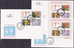Macedonia, Fight Cancer, 1994, Complete, Set + 2 S/Sheets, FDC - Malattie