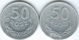 Poland - 50 Groszy - 1985 (KM48.1) & 1986 (KM48.2) - Poland