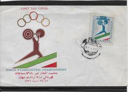 Thème Altérophilie - Jeux Olympiques - Sports - Enveloppe Iran - Weightlifting